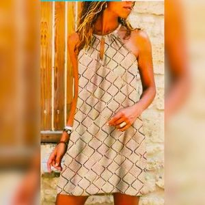 HOST PICK❣️NWOT Women's Halterneck Print Dress SzS
